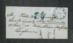 Transatlantic Ship Cover Philadelphia 1850 Europa