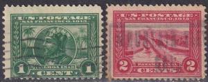 US #379-80 Used CV $3.00 (A19300)