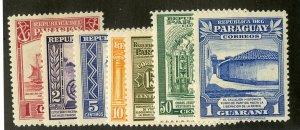 PARAGUAY 435-41 MH SCV $3.95 BIN $1.75