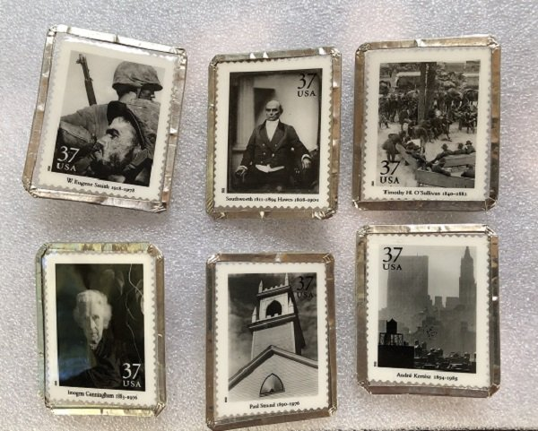 6 Different Stamp Pins Featuring The Masters of American Photography