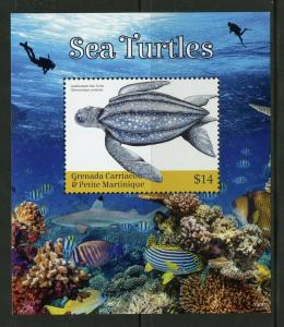 GRENADA GRENADINES  2019 SEA TURTLES  SOUVENIR SHEET MINT NH