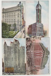 4 Different Unused Postcards of New York City buildings by Success Postal Card