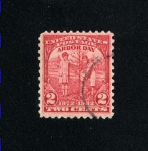 USA #717  used 1932 PD .08