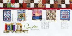 Norfolk Island 2014 FDC Quilts 5v Set Cover Art Design Stamps