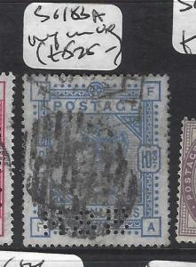 GREAT BRITAIN   (P2411B)  QV   10/-   SG 183A  PERF IN    VFU