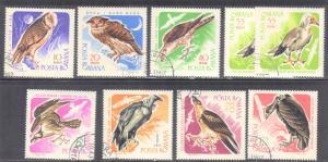 ROMANIA  SCOTT# 1899-1906  1967 CTO  BIRDS   SEE SCAN