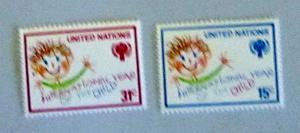 UN, NY - 310-11, MNH Set. ICY Emblem; Child. SCV - $0.60