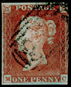 SG8, 1d red-brown, USED. Cat £30. MC