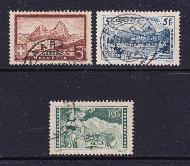 Switzerland x 3 early used high values