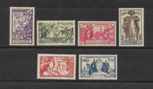 FRENCH POLYNESIA #117-22 - 1937 INTERNATIONAL EXPOSITION MNH