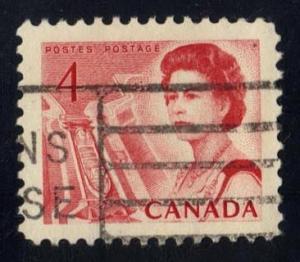 Canada #457 Ship in Lock, used (0.25)