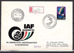 Hungary, Scott cat. 2813. Astronautical issue. First day cover.