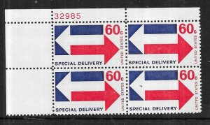 US#E23 60c -Special Delivery Plate Block of 4 (MNH) CV $5.50