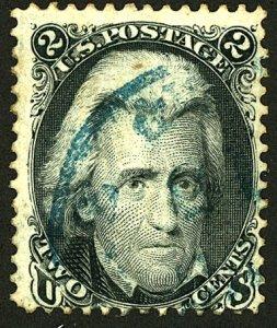 U.S. #73 USED BLUE CANCEL