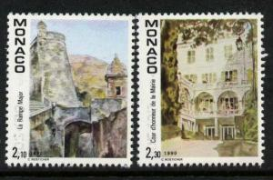 Monaco 1702-3 MNH Art, The Great Stairs, Mayoral Court of Honor, Architecture