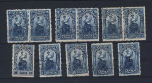 11x Canada  Revenue Yukon Law Stamps 3x Prs YL8-9-10, YL13 2x10-2x11 GV=$103.00