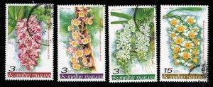 THAILAND Scott 2189-2192 Used Orchid flower stamp set 2005