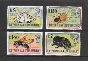 BRITISH INDIAN OCEAN TERRITORY #86-89  WILDLIFE  VLH