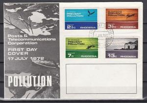 Rhodesia, Scott cat. 314-317. Prevent Pollution issue. First day cover.