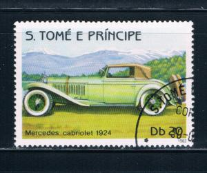 Saint Thomas and Prince Is 712a Mercedes Cabriolet 1924 (GI0360)+