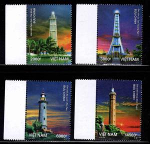 United Viet Nam Scott 3473-3476 MNH** Lighthouse  set 2013