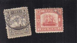 Malta: Sc #16-17, Used (35496)