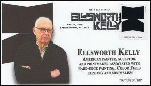 19-132, 2019, Ellsworth Kelly, Pictorial Postmark, FDC, Artist, Spencertown NY