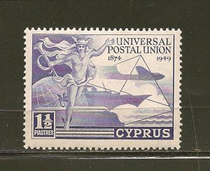 Cyprus 160 UPU Mint Hinged
