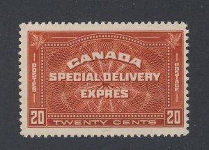 Canada Special Delivery MH Stamp #E4-20c MH Fine+ Guide Value = $45.00