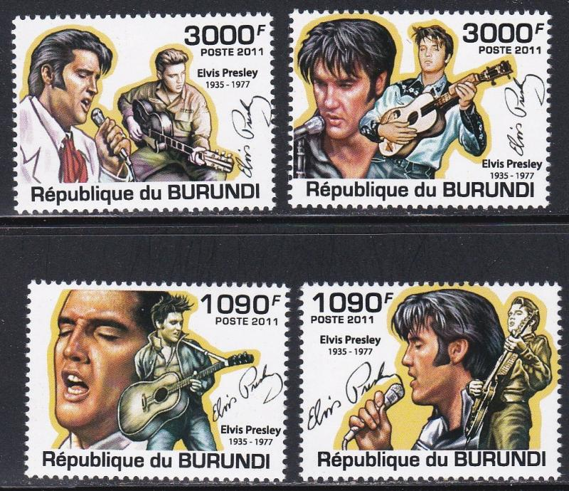 Burundi MNH 961-4 Elvis Presley 2011