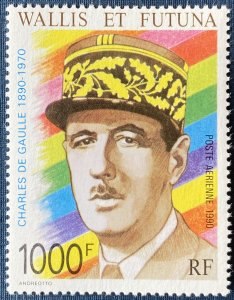 Wallis and Futuna Islands C165 MNH Charles de Gaulle (SCV $24.50)