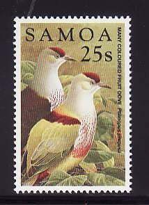 Samoa-Sc#962- id7-unused NH set-Birds-Fruit Dove-1998-