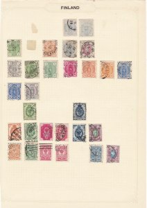 finland  stamps on 4 pages ref r8368