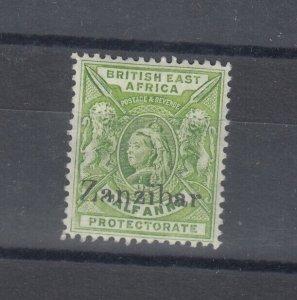 Zanzibar 1896 1/2 Anna O/P SG41 MLH J9586