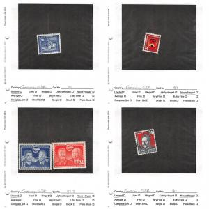 Lot of 69 Germany DDR MNH & MH Stamps Scott Range # 89 - 187 #141355 X R