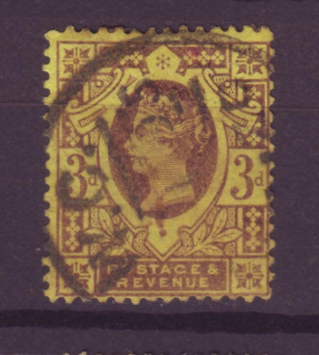 J13987 JLstamps 1887-92 great britain used #115 queen $3.50 scv
