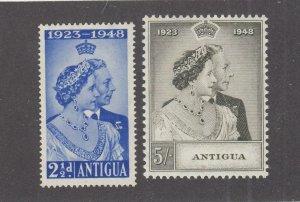 ANTIGUA  # 98-99 VF-MNH 1935 KING GEORGE VI SILVER WEDDING-SET #2 CAT VALUE $15