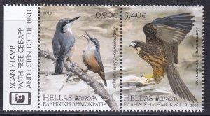 Greece, Birds, EUROPA MNH / 2019