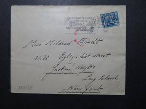 Netherlands 1941 Censor Cover to USA (I) - Z10697