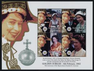 Antigua 2542-3 MNH Queen Elizabeth Golden Jubilee