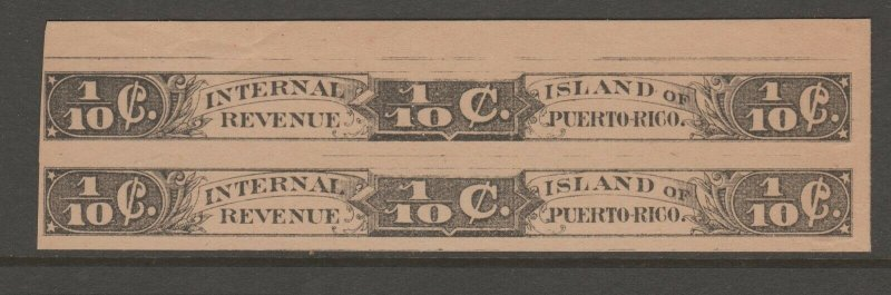 Puerto Rico Excise revenue fiscal Stamp 10-17- toned
