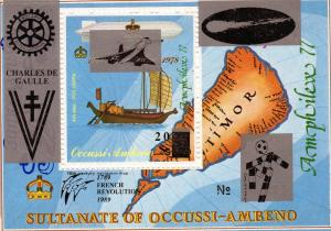 Timor Ocussi-Ambeno 1989 Halley's Comet/World Cup/Rotary/Concorde