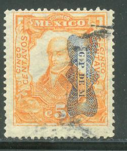 MEXICO 521Var, 5c CORBATA REVOLUTIONARY OVERPRINT INV (READING DOWN). USED (818)