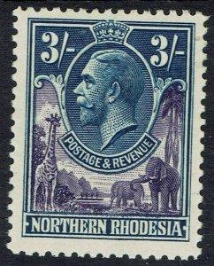 NORTHERN RHODESIA 1925 KGV GIRAFFE AND ELEPHANTS 3/-