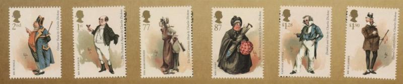 Great Britain Sc 3037-42 2012 Charles Dickens stamp set mint NH