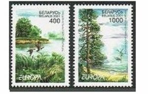 Belarus 388-389,MNH.Michel 409-410.EUROPE-CEPT 2001.Parks:Prypyatski,Narachanski