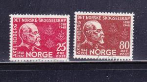 Norway 292-293 Set U Axel Heiberg, Diplomat (B)