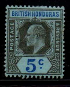 British Honduras Sc 60 1902 5c gray black & ultra Edward VII stamp mint
