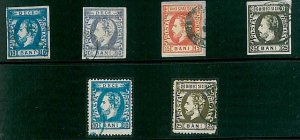 21438  - ROMANIA - STAMPS - Michel 29 I, 29 II, 30 & 79 S - VERY FINE  USED