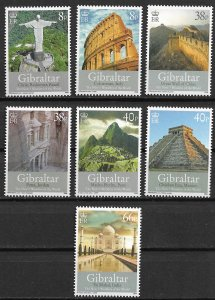 2008 Gibraltar 1146-52 The 7 Wonders of the World MNH C/S of 7